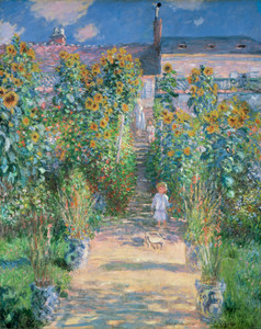 Art Prints of The Artist's Garden at Vetheuil by Claude Monet