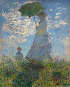 Art Prints of Woman with a Parasol, Madame Monet and Her Son by Claude Monet