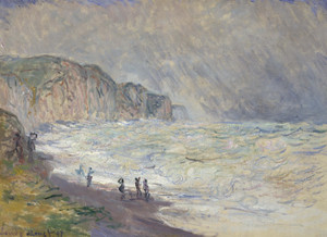 Art Prints of Heavy Sea at Pourville by Claude Monet