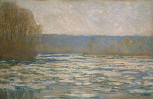 Art Prints of Ice Breaking up on the Seine near Bennecourt by Claude Monet