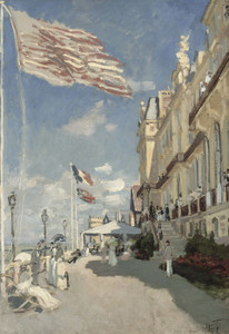 Art Prints of Hotel des Roches Noires, Trouville by Claude Monet
