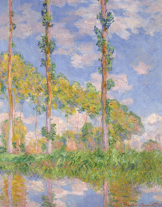 Art Prints of Poplars in the Sun by Claude Monet