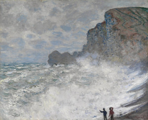 Art Prints of Rough Weather at Etretat by Claude Monet