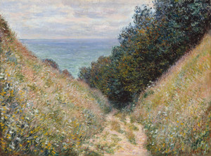 Art Prints of Road at La Cavee, Pourville by Claude Monet