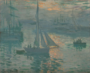 Art Prints of Sunrise Marine by Claude Monet