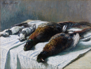 Art Prints of Still Life with Pheasants and Plovers by Claude Monet