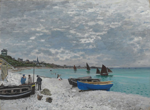 Art Prints of The Beach at Sainte Adresse by Claude Monet