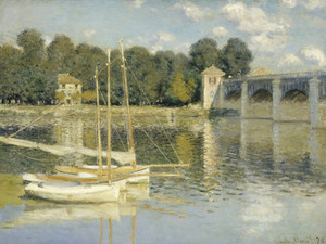 Art Prints of The Argenteuil Bridge by Claude Monet
