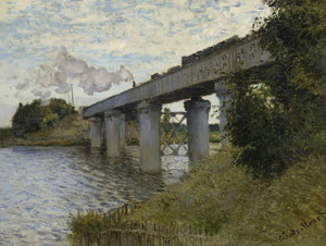 Art Prints of The Railroad Bridge in Argenteuil by Claude Monet