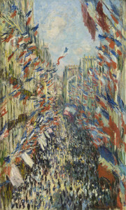 Art Prints of Rue Montorgueil in Paris, Celebration of June 30, 1878 by Claude Monet