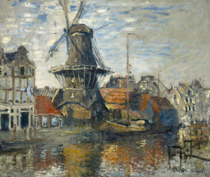 Art Prints of The Windmill on the Onbekende Gracht Amsterdam by Claude Monet