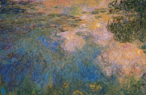 Art Prints of The Water Lily Pond 1917, Tryptic II by Claude Monet
