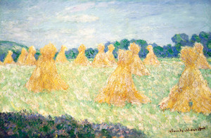 Art Prints of The Young Ladies of Giverny, Sun Effect by Claude Monet