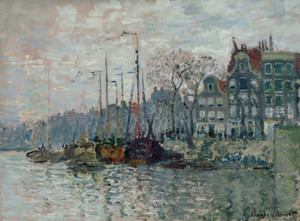 Art Prints of View of the Prins Hendrikkade in Amsterdam by Claude Monet