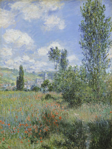 Art Prints of View of Vetheuil II by Claude Monet