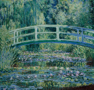 Art Prints of Water Lilies and Japanese Bridge by Claude Monet