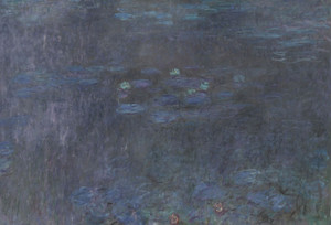 Art Prints of The Water Lilies, Tree Reflections, Tryptic III by Claude Monet