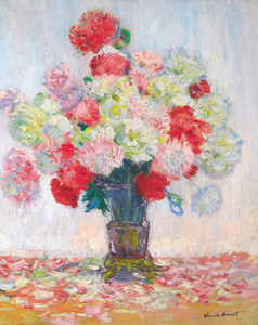 Art Prints of Vase of Peonies by Claude Monet