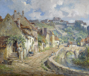 Art Prints of French Village by Colin Campbell Cooper