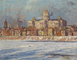 Art Prints of Pennsylvania State Capitol Building, Harrisburg by Colin Campbell Cooper