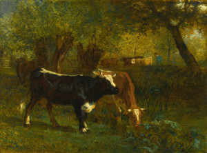 Art Prints of Cows Watering by Constant Troyon