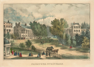 Art Prints of Saratoga Springs N.Y. by Currier & Ives