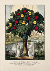 Art Prints of Tree Bearing Apples Representing Christian Virtue by Currier & Ives