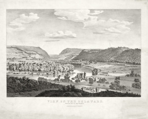 Art Prints of View on the Delaware Water Gap in the Distance by Currier & Ives
