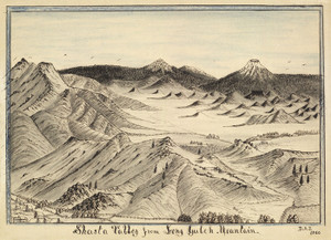 Art Prints of Shasta Valley from Long Gulch Mountain (04823L) by Daniel A. Jenks
