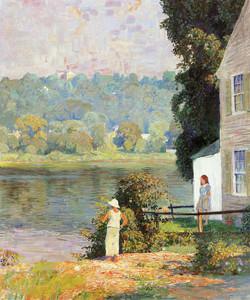 Art Prints of Beside the River by Daniel Garber