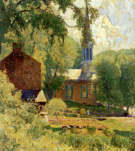 Art Prints of Church at Stockton by Daniel Garber