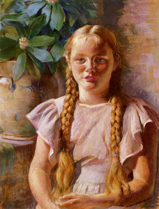 Art Prints of Frances in Braids by Daniel Garber