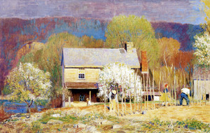 Art Prints of Planting Beans by Daniel Garber