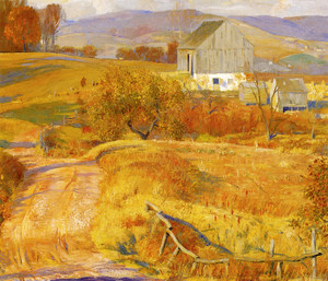 Art Prints of Red Hills by Daniel Garber