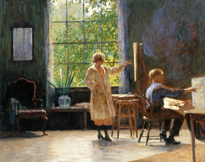 Art Prints of Students Painting by Daniel Garber
