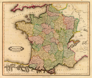 Art Prints of France Provinces, 1831 (0436034) by Daniel Lizars