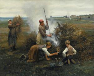 Art Prints of Burning Brush by Daniel Ridgway Knight