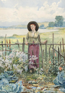 Art Prints of Daydreaming by Daniel Ridgway Knight
