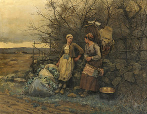 Art Prints of Maidens Waiting by Daniel Ridgway Knight