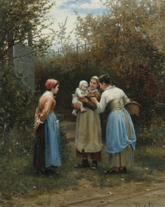 Art Prints of The First Born or Morning Greeting by Daniel Ridgway Knight