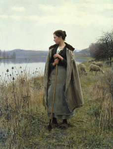 Art Prints of The Shepherdess of Rolleboise by Daniel Ridgway Knight