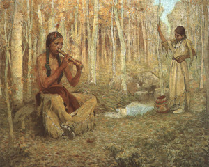 Art Prints of The Flute Song by Eanger Irving Couse