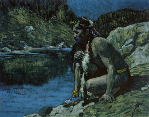 Art Prints of Evening Solitude by Eanger Irving Couse