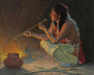 Art Prints of The Arrow Maker by Eanger Irving Couse