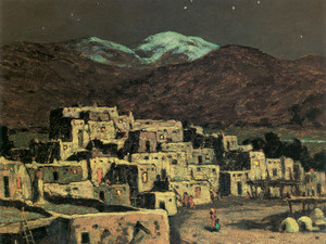Art Prints of Taos, Pueblo, Moonlight by Eanger Irving Couse
