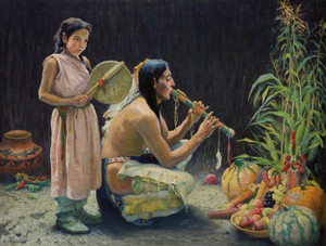 Art Prints of The Harvest Song by Eanger Irving Couse