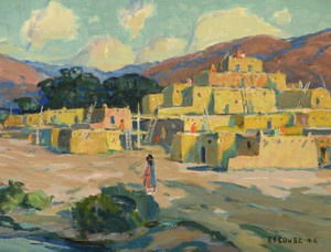 Art Prints of Taos Pueblo by Eanger Irving Couse