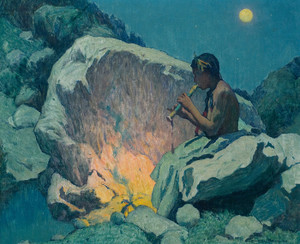 Art Prints of Moonlight Pueblo de Taos II by Eanger Irving Couse