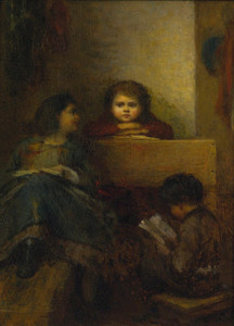 Art Prints of Children Reading by Eastman Johnson