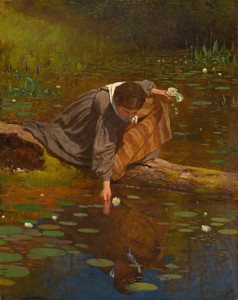 Art Prints of Gathering Lilies, 1865 by Eastman Johnson